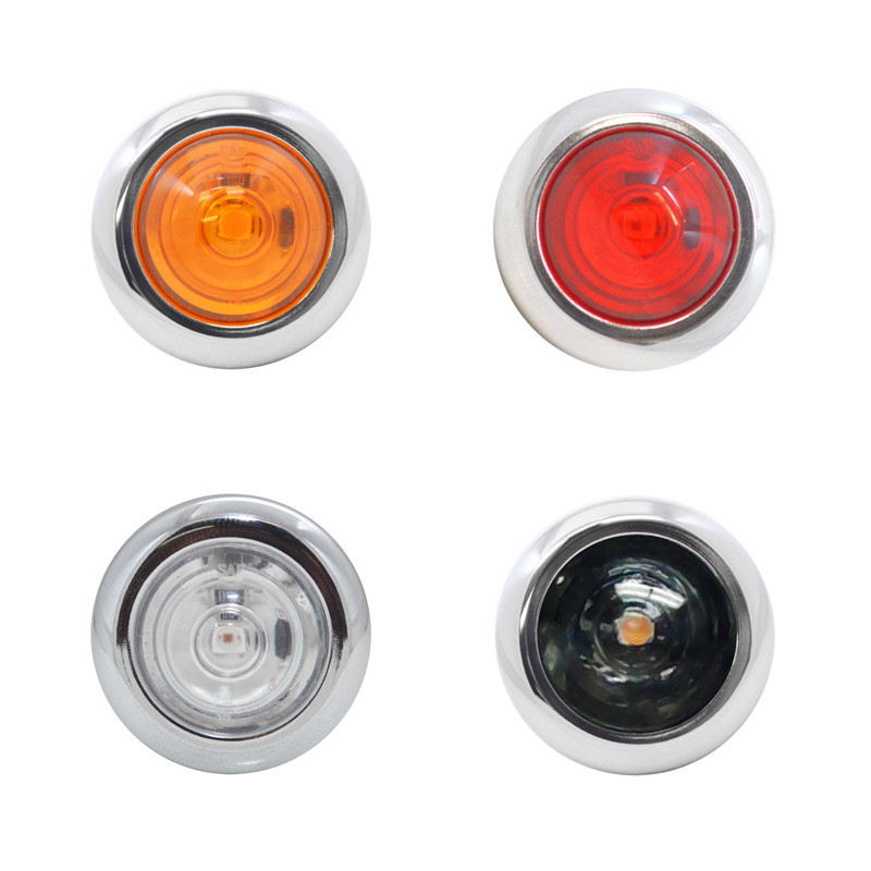 """3/4"""" Round LED Clearance Marker Lights"""