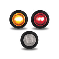"Mini Button 3/4"" LED Marker Light With Grommet"