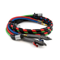3-In-1 Wrap Red And Blue Air Hose With MaxxGrip Gladhands 12ft.