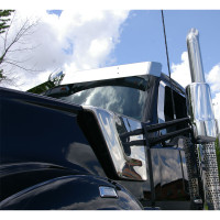"Kenworth T680 T880 W990 Day Cab 8"" Drop Visor Front View"