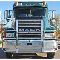 Mack CH Set Back Axle Ali Arc Curved Front Bumper Grill Guard