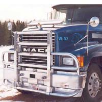 Mack CH Set Forward Axle Ali Arc Curved Front Bumper Grill Guard