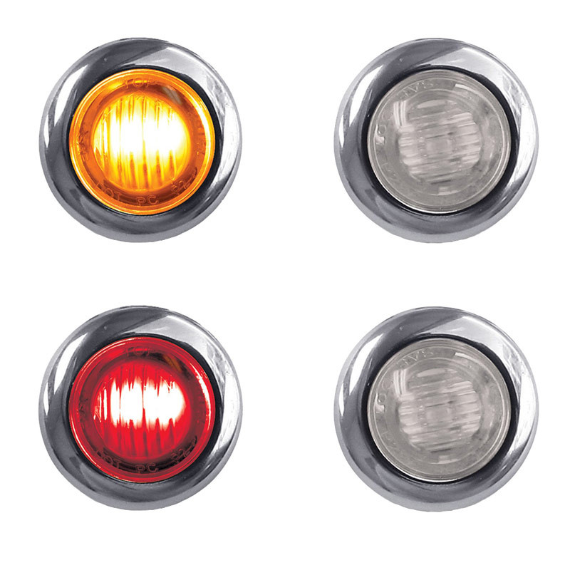 "3/4"" Clearance Marker Light With Bezel 3 LED Diodes"