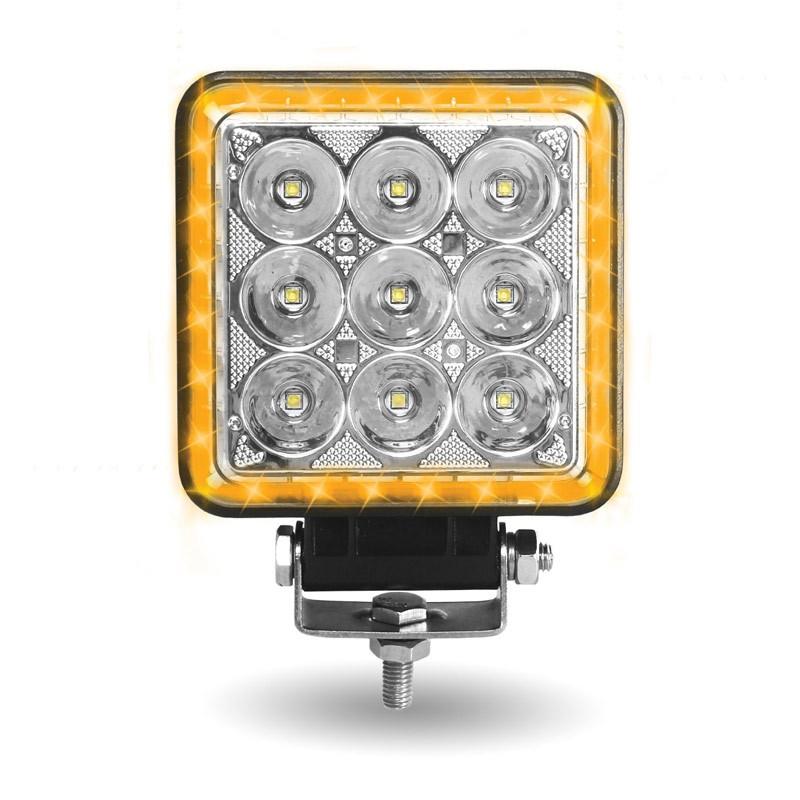 """4.25"""" Square 'Strobe Series' Universal LED Spot Beam Work Light"""