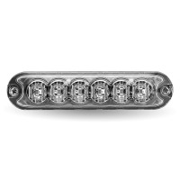 Class 1 Directional Universal 6 LED Slim Surface Mount Strobe Work Light