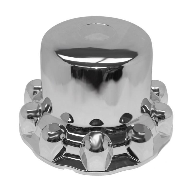 Alcoa Style Chrome One-Piece Rear Hub Axle Cover System 087100S