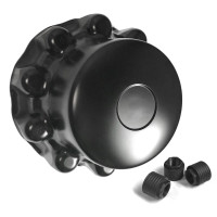 Alcoa Style Menacing Matte Black One-Piece Rear Hub Axle Cover System 089100S-BLK