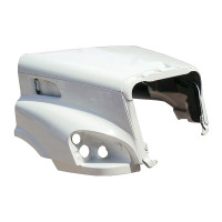 Freightliner Cascadia Hood No Hinge Bar Side View