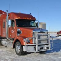 Freightliner Coronado 3x5 Full Guard Bumper Grill Guard - On Truck