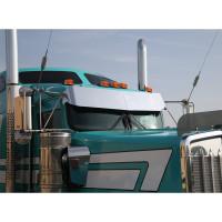 Kenworth Intimidator Series Challenger Drop Visor By RoadWorks On Truck Close View Passenger Side