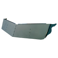 "Peterbilt 330 335 379 389 13"" Drop Visor With Cab Mounted Mirrors"