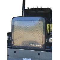 Peterbilt 389 304 Stainless Steel Grill Close View