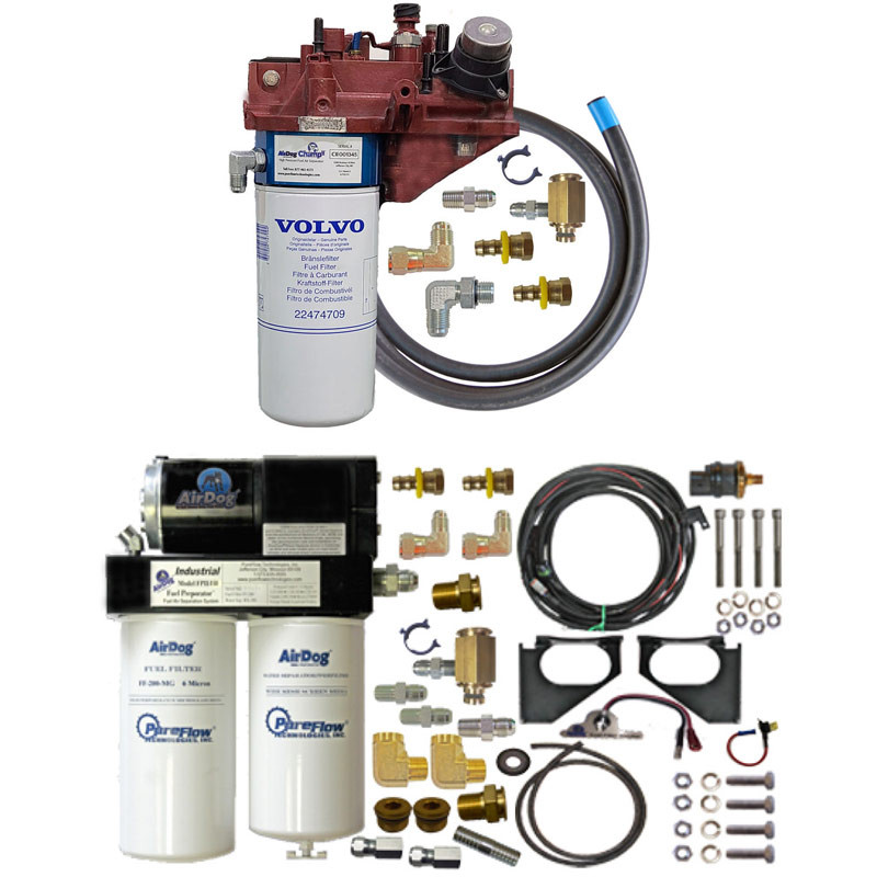 AirDog Champ II Spin-On High Pressure Fuel Air Separator 2-Stage Kit For Volvo & Mack Without Frame