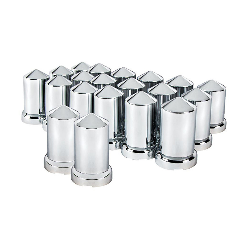 20 Pack of Chrome 33mm Push On Bullet Nut Covers