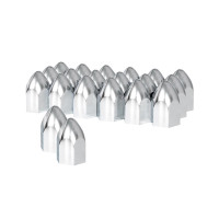 "20 Pack of Chrome 1 1/2"" Push On Bullet Nut Cover - Default"