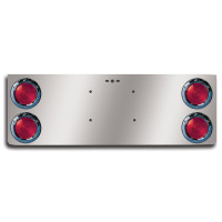 "12"" Rear Center Panel With Round Lights And License Plate Holes By RoadWorks"