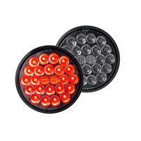 "4"" 24 Pearl LED Light STT Clearance Red Smoke Lens"