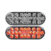 """6"""" Oval 24 LED Pearl Smoked Lens Light By Grand General"""