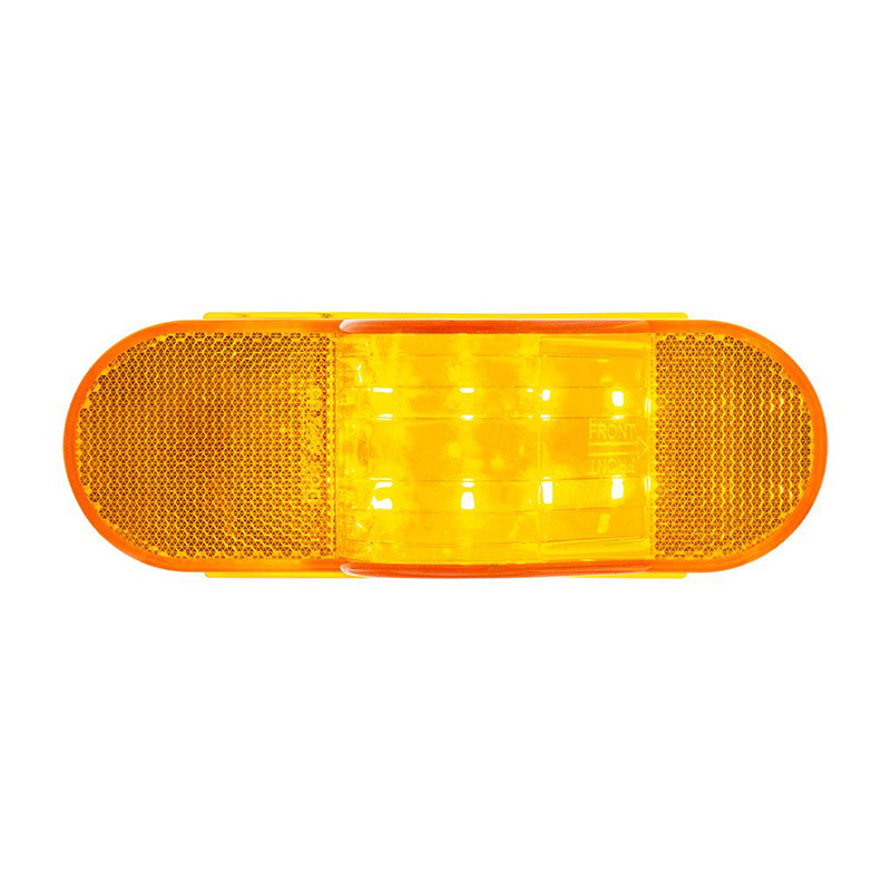 8 Amber SMD LED Mid Trailer Turn Signal Light Top Down View On