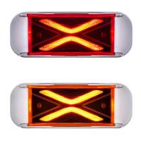 4 LED Saber Rectangular Clearance Marker Light - On