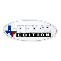 Universal Texas Edition Chrome Oval Emblem Front View