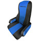 Peterbilt 379 386 389 Form Fitting Factory Seat Cover - Black and Blue