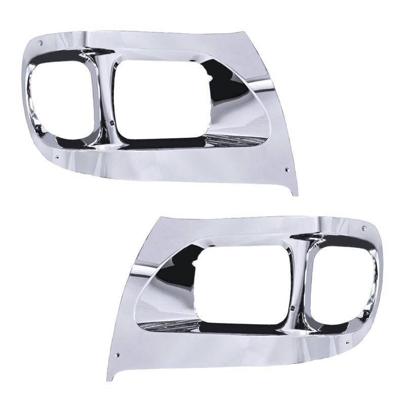 International 9900 Chrome Headlight Bezel - Both Sides