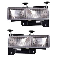 GMC Cadillac Chevrolet Headlight Assembly (Pair)