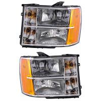 GMC Sierra Headlight Assembly (Pair)