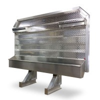 Open Aluminum Headache Rack With Full Width Trays For Semi Trucks - Default