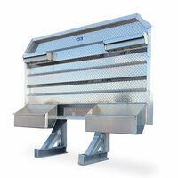 Open Aluminum Headache Rack With Split Trays For Semi Trucks - Default
