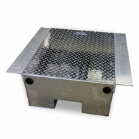 Aluminum Diamond Plate Battery Box - Default