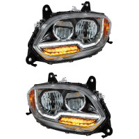 International LT LED Projector Headlight With Turn Signal Diffusers (Pair)