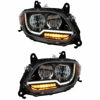 International LT Blackout LED Projector Headlight With Turn Signal Diffusers (Pair)