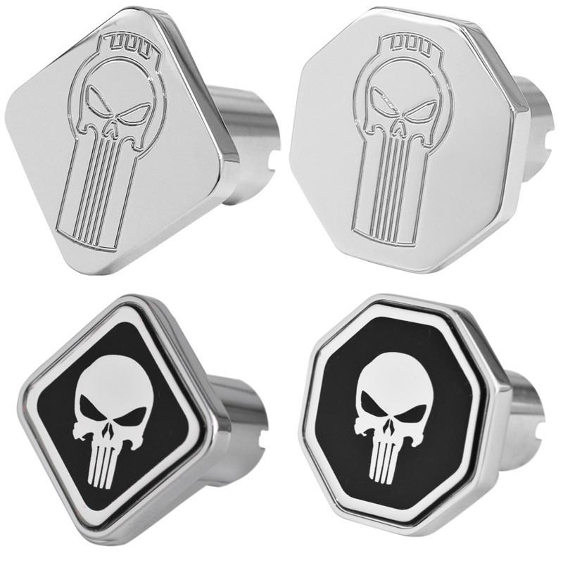 Engraved Punisher Logo Tractor Trailer Air Brake Knob Options