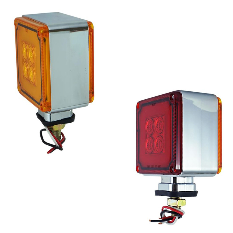 8 LED Mini Square Double Face Turn Signal Light - Default