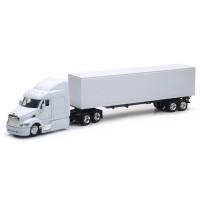 Peterbilt 387 White Long Hauler With Dry Van Trailer Replica