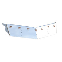 "Peterbilt 13"" Drop Visor With 14 Rectangle LED Lights Side View"