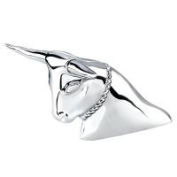 Chrome Long Horn Bull Ornament
