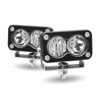 Mini Rectangular High Powered Combination LED Spot & Flood Work Lamps