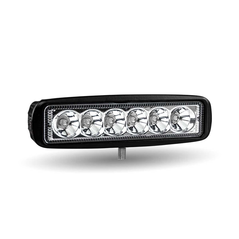 """6"""" Rectangle High Powered Stellar Series LED Work Light With Spot Or Flood Beam Back View"""