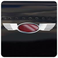 Peterbilt Stainless Steel Straight Wing Emblem Trim Pair