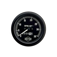 Semi Truck Electric Chrome Tachometer Gauge With Hourmeter By ISSPRO