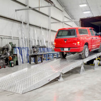 Aluminum Portable Yard Ramps System By Heavy Duty Ramps - Truck On Ramp