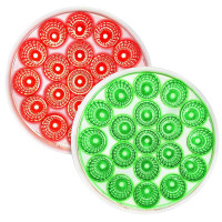 """4"""" Round 19 LED Dual Color Red STT And Green Marker Light - Default"""