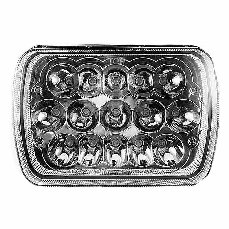 5''x 7'' Rectangular LED High & Low Beam Headlight - Front View Off
