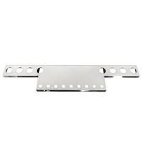 """45"""" Wide Universal Rear T-Bar & Panel With 4"""" & 2"""" Light Cutouts"""