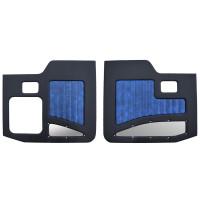 Kenworth W900A W900B 1964-2018 Street Rod Style Door Panel Black/Blue