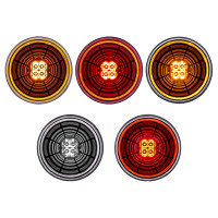 """4"""" Round Turn Signal Abyss Light (Color Options)"""