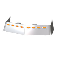"""Volvo VN670 VN780 VT880 High Roof 13"""" Drop Visor With 8 LEDs"""